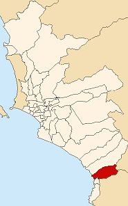 Location of San Bartolo in the Lima province
