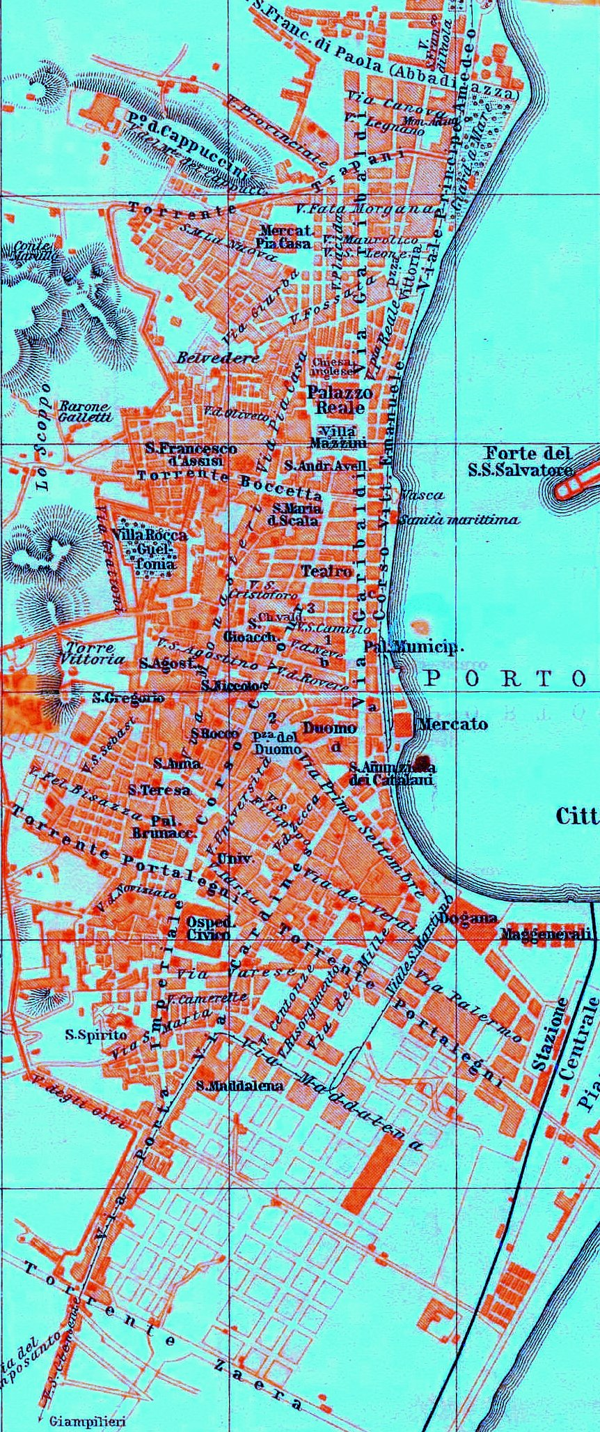 maps of messina