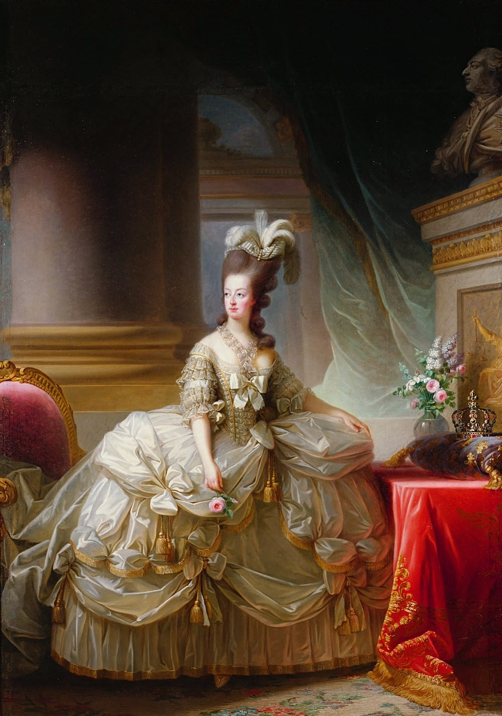 women s fashion during and after the french revolution to she also was the first to wear the chemise a la reine gown of the queen the precursor to the empire silhouette although that style of dress came