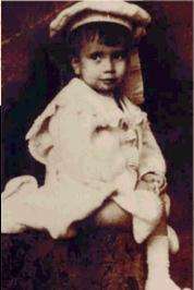 O poeta Mário Quintana quando criança