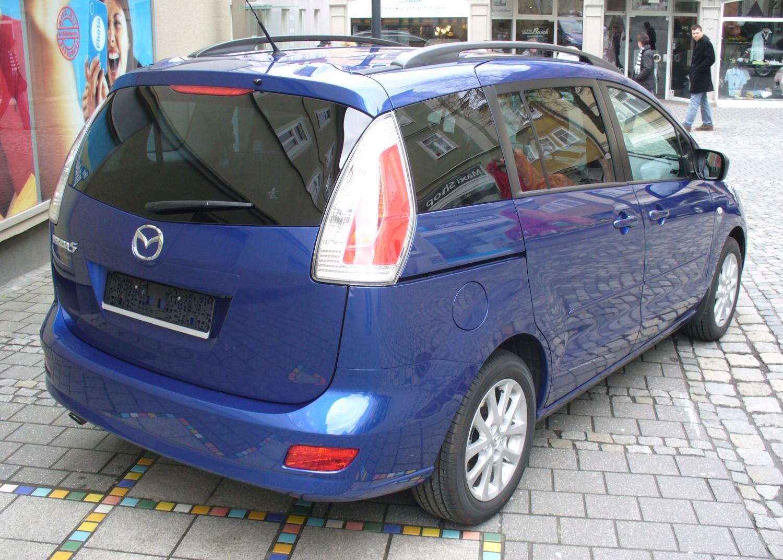 Mazda 5 facelift nereusblau heck jpg
