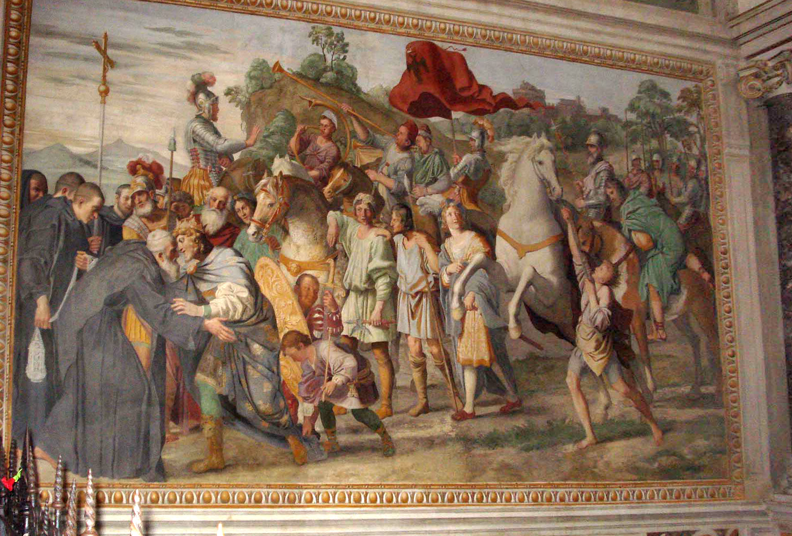 Image result for domenichino, st. nilo and otto III meeting, public domain images