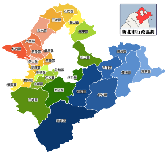 New Taipei map