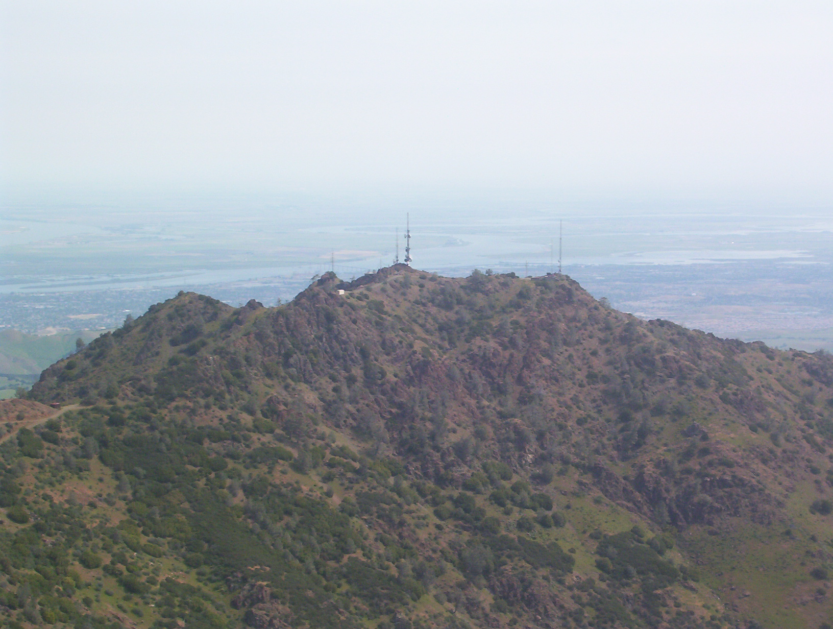 The Sacramento-San Joaquin Delta viewed from Mount Diablo, near where Fages and his crew are believed to have first caught sight of the Sacramento River