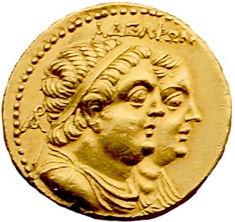English: A 3rd century BC gold oktodrachmon sh...