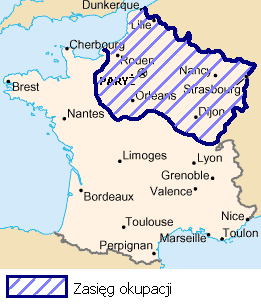 Areas of France occupied until the war reparat...