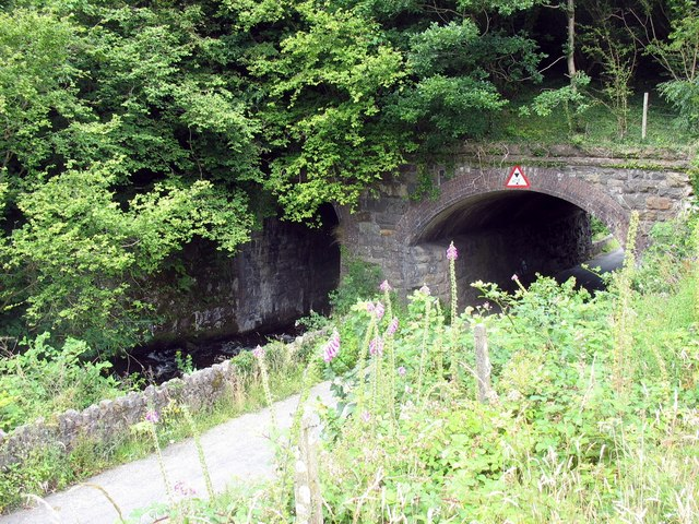 Old railway bridge now carrying the Lon Eifion cycleway - geograph.org.uk - 886222