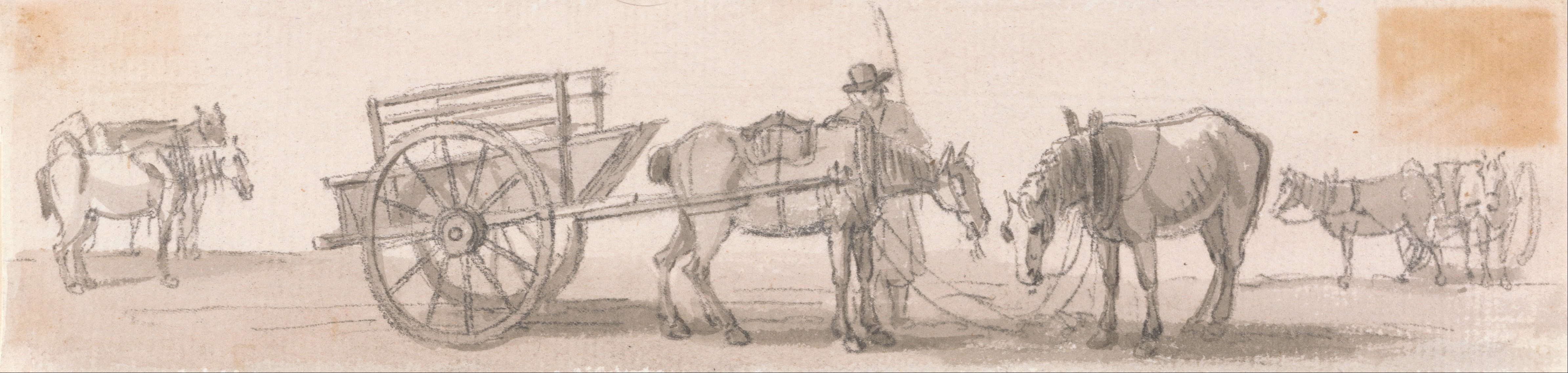 Two-wheeled Tip-cart with Horses Artist creator QS:P170,Q266637 Details of artist on Google Art Project Title Two-wheeled Tip-cart with Horses label QS:Len