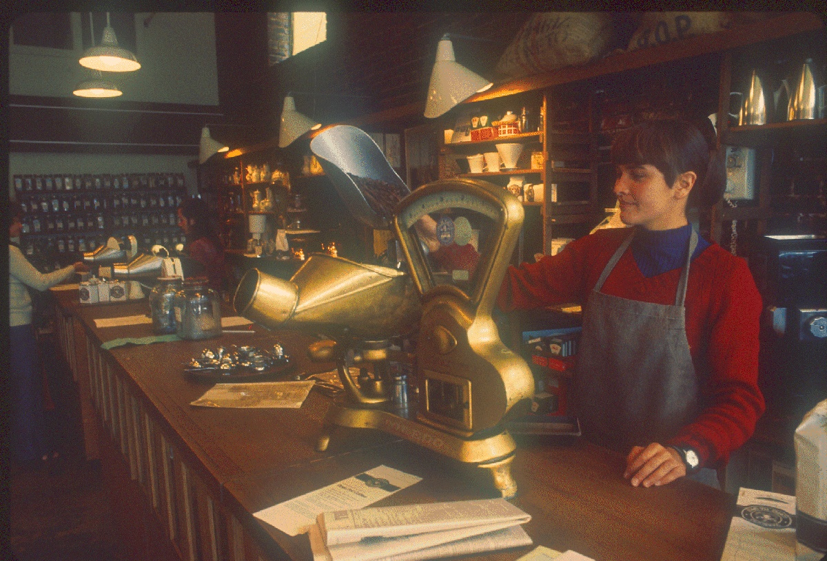Interior of the Pike Place Market location in 1977