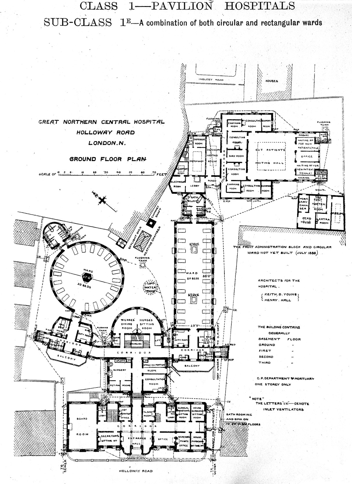FilePlan Of Great Northern Central Hospital London 1893