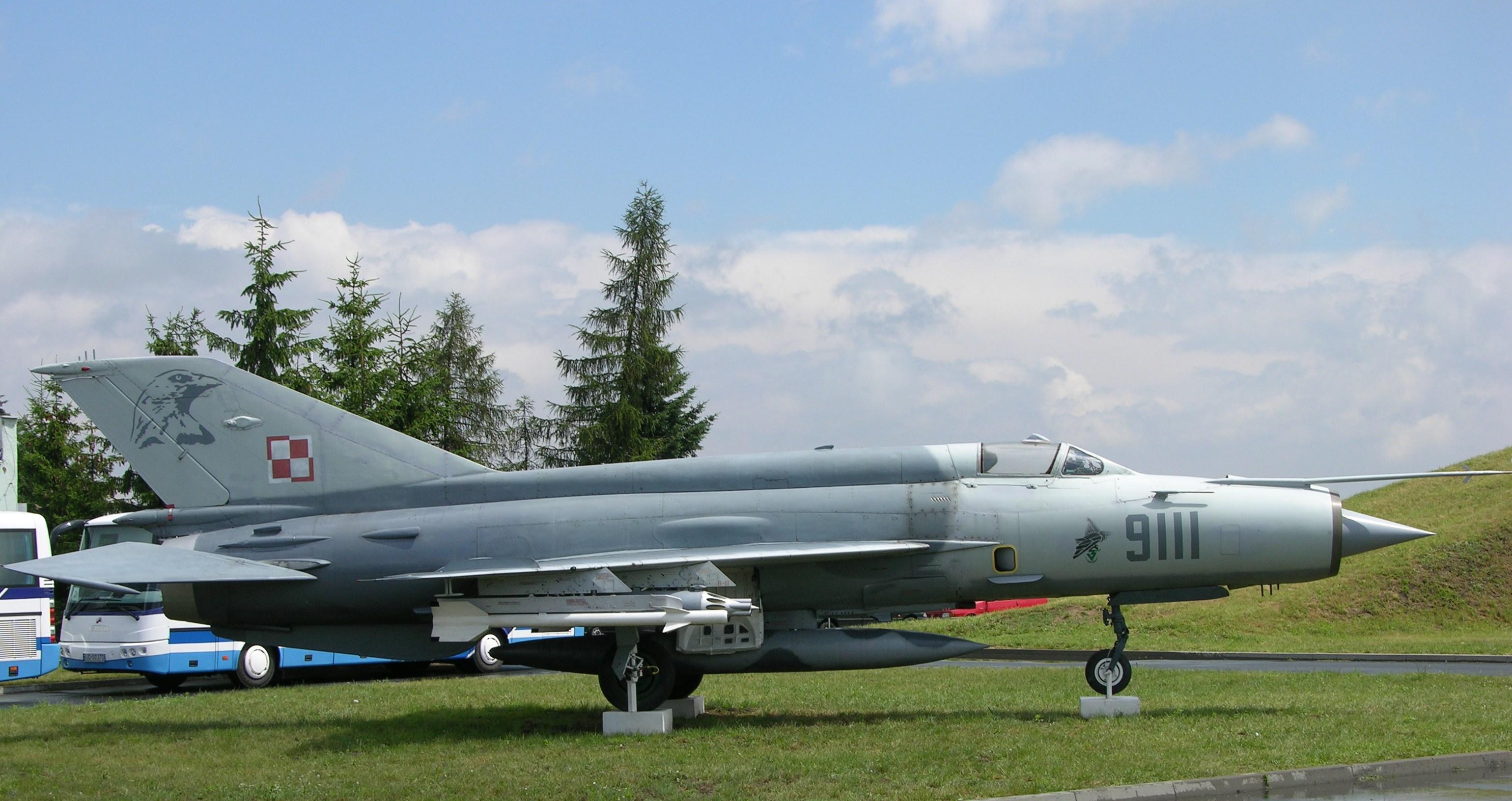 File:Poznan Krzesiny Poland Polish Air Force 9111 MiG 21MF Preserved (3118871102