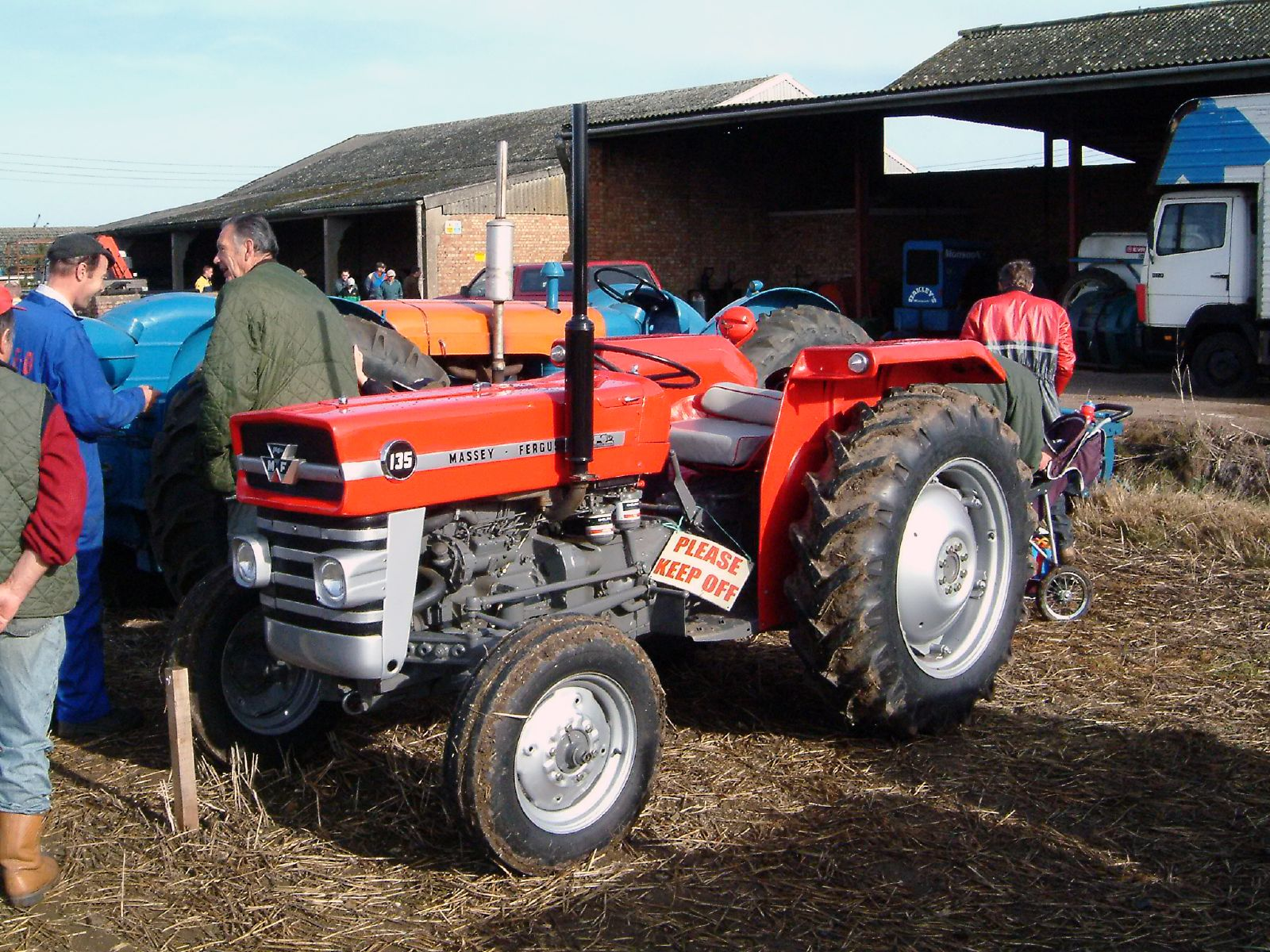 File:Red Massey Ferguson 135 at the 55th British National Ploughing  Championship, Soham,