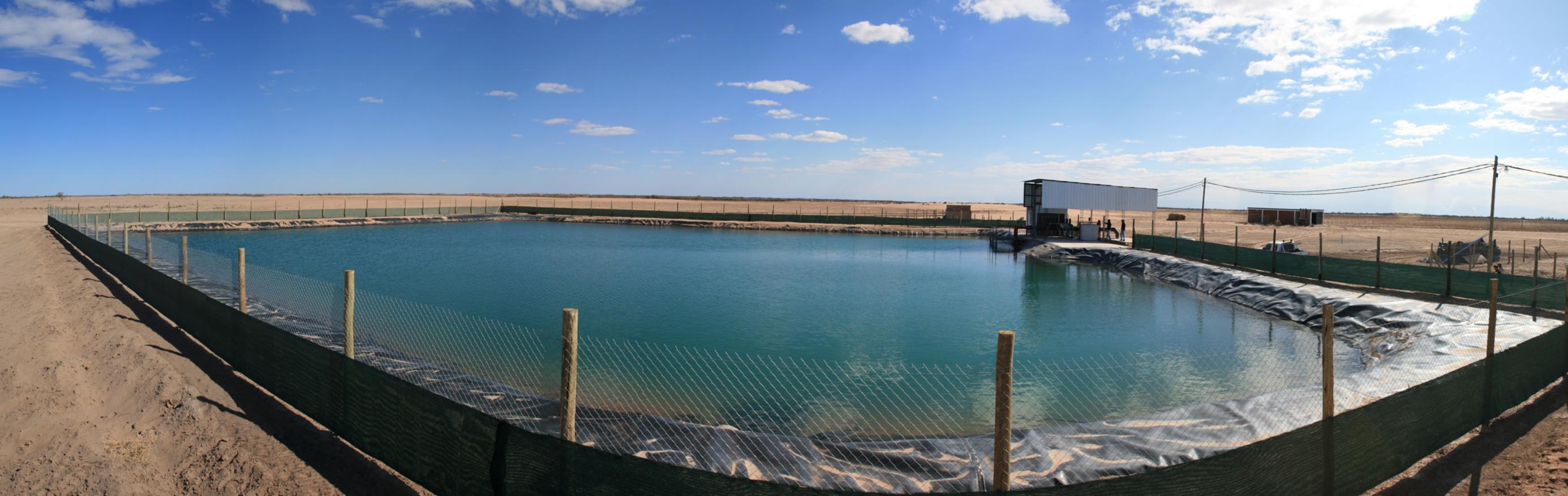 File reservorio de agua para riego en 25 de mayo san juan for Impermeabilizante para estanques de agua