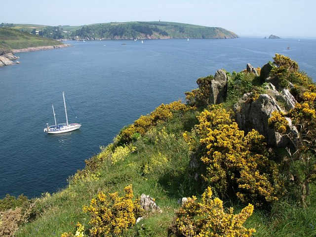 Rocks above Combe Point - geograph.org.uk - 806463