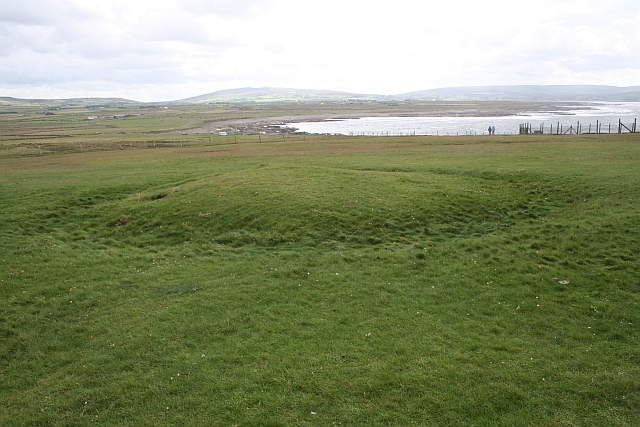 Round Barrow, Downpatrick Head - geograph.org.uk - 369309