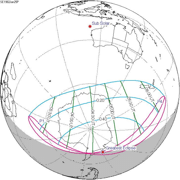 1982 Calendar Telugu.Solar Eclipse Of January 25 1982 Wikipedia