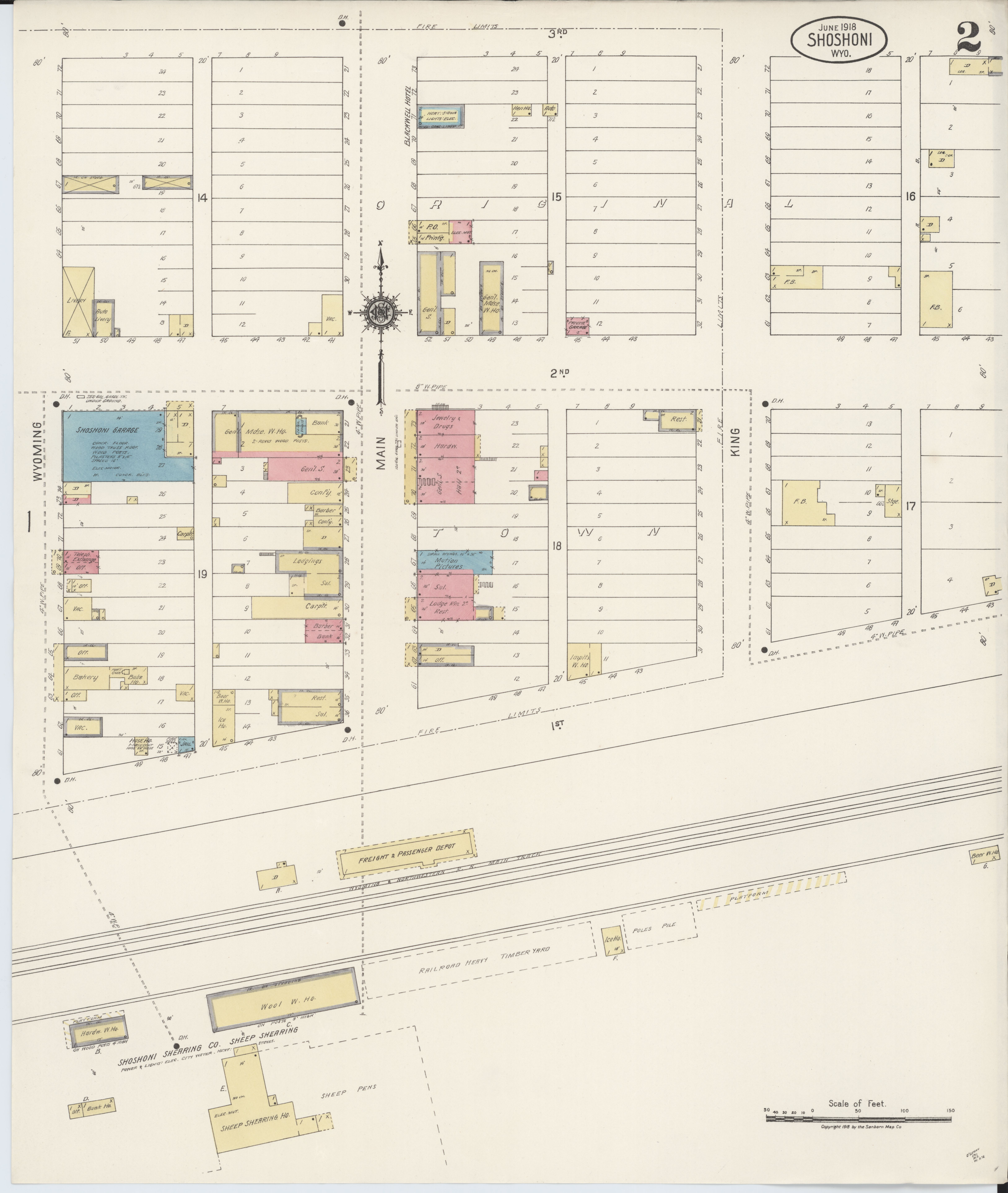 File Sanborn Fire Insurance Map From Shoshoni Fremont County