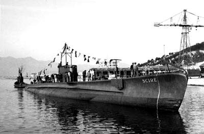 Submarine Scire used in the victorious Raid on Alexandria (1941). Scre.jpg