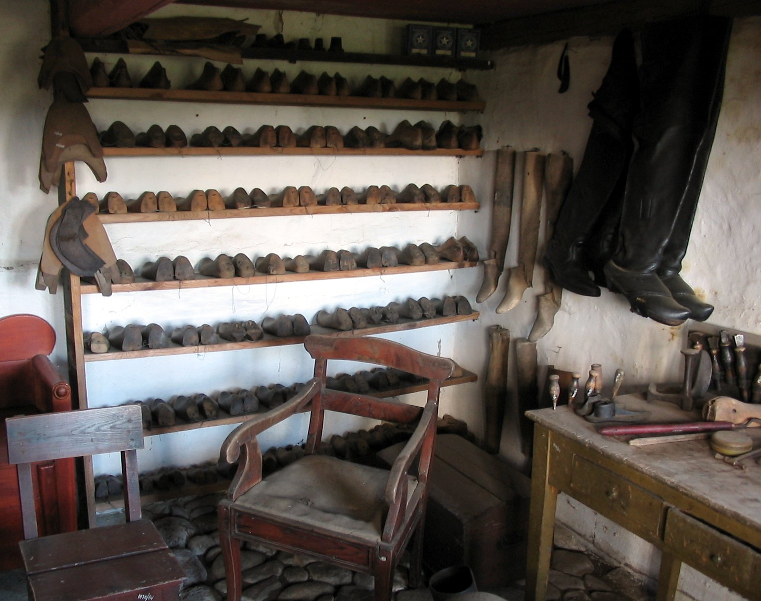 A shoemaker's workshop