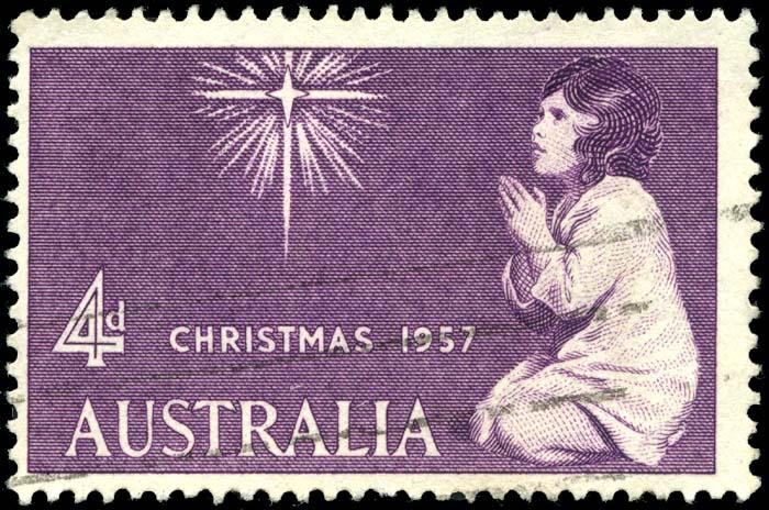 Stamp AU 1957 4p Xmas
