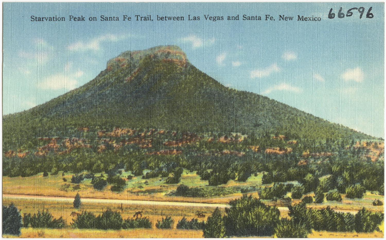 File:Starvation Peak on Santa Fe Trail, between Las Vegas and Santa Fe ...