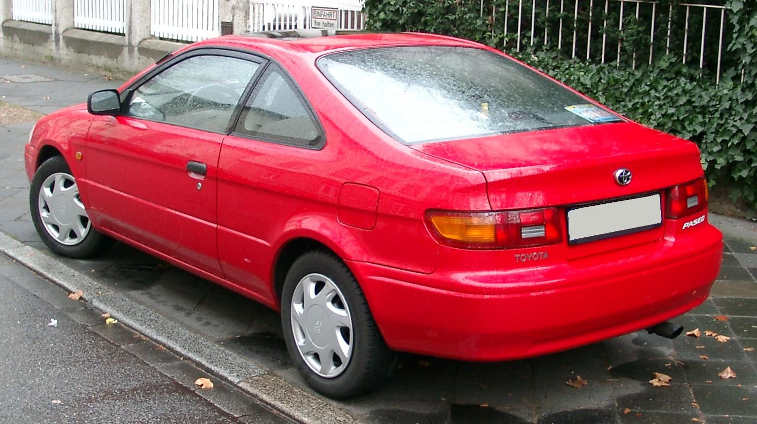 2代目トヨタ サイノス リヤビュー ※写真はヨーロッパ仕様のパセオです。