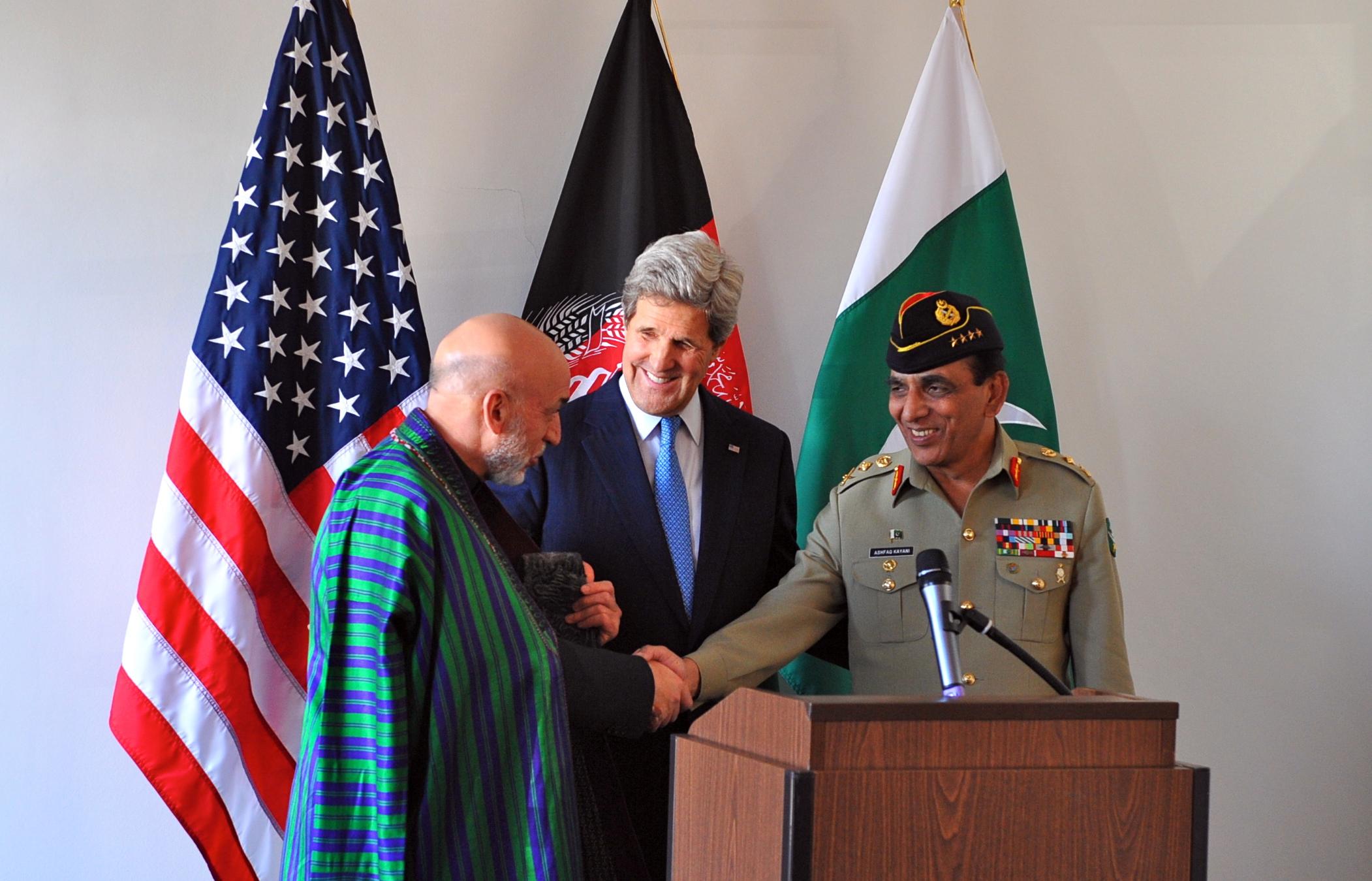 File:U.S. Secretary of State John Kerry looks on as Afghan ...