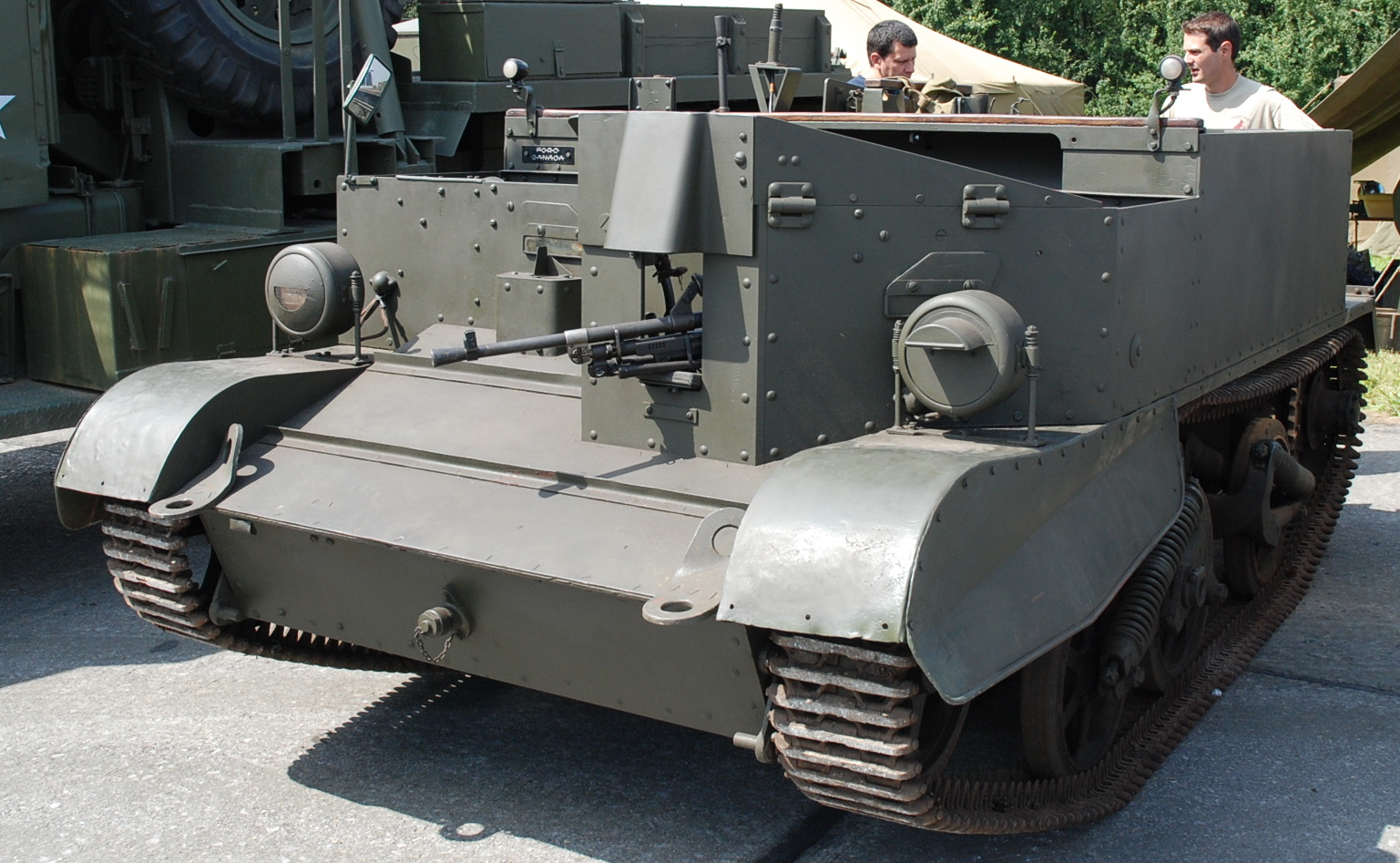 A Bren Mk.II mortar carrier at Bovington, where most of the Brens in the world are displayed