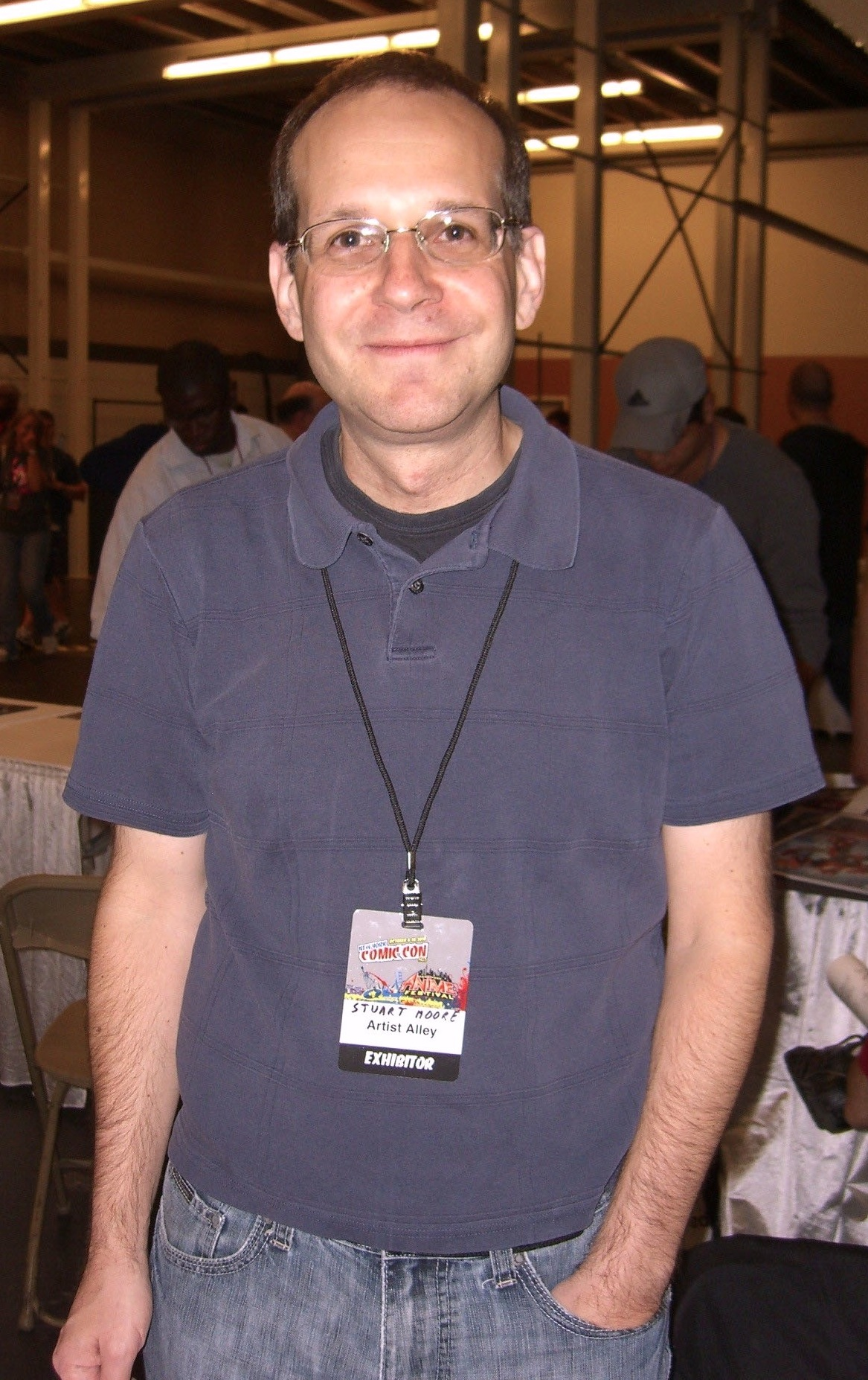 Moore at the [[New York Comic Con]] in Manhattan, October 10, 2010