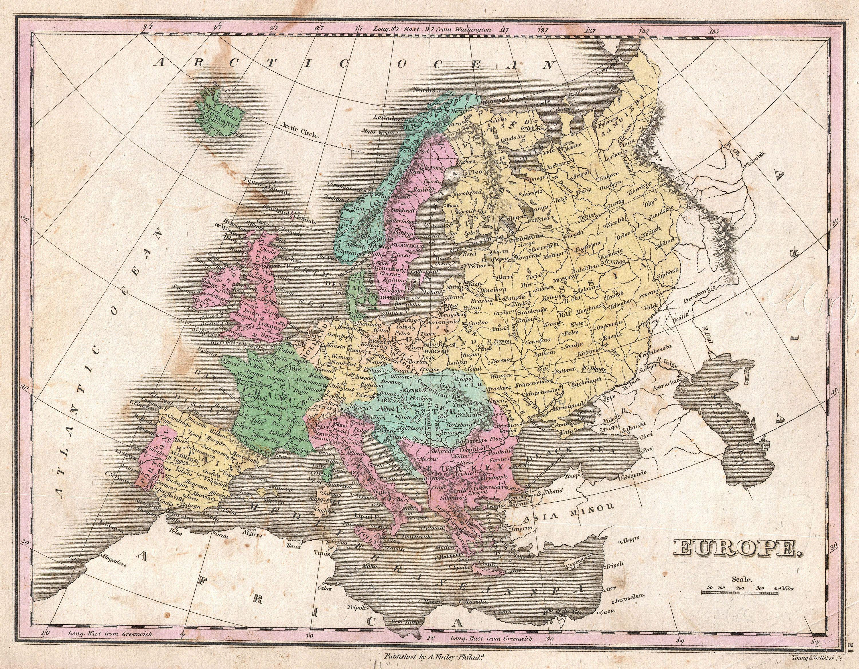 File:1827 Finley Map of Europe - Geographicus - Europe-finely-1827.