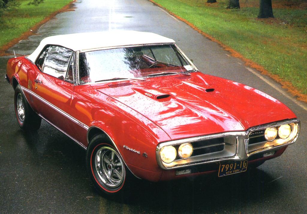 File 1967 Pontiac Firebird 400 Ho Convertible Red Top Rt