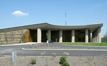 The Creation Museum is a Christian creationism museum in Petersburg, Kentucky run by Answers in Genesis AIG museum.jpg