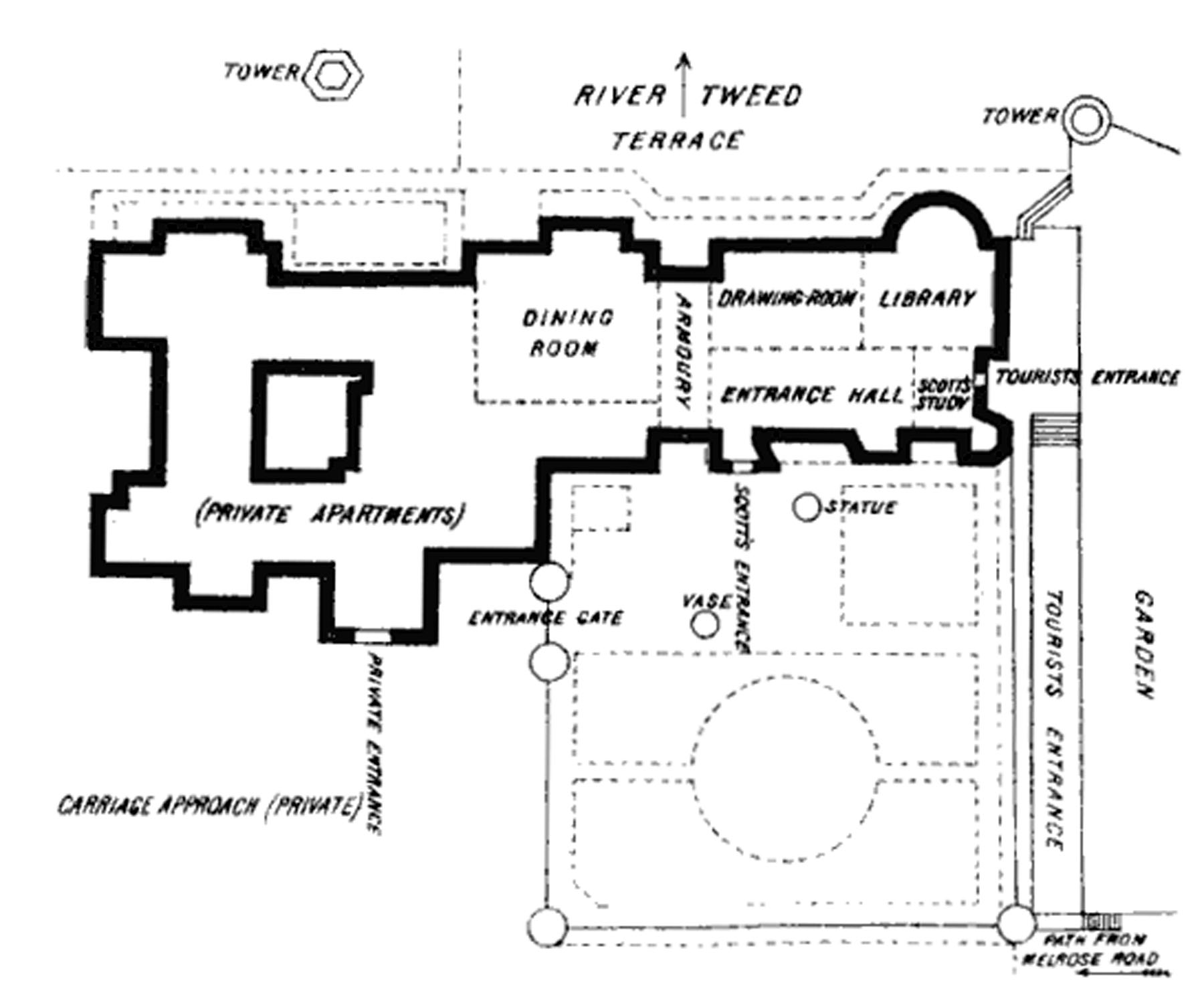 File Abbotsford House Ground Plan Jpg Wikimedia Commons