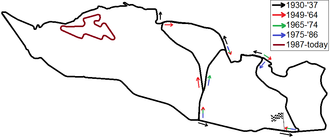 file all layouts of the masaryk circuit  brno circuit  between 1930 and today combined png