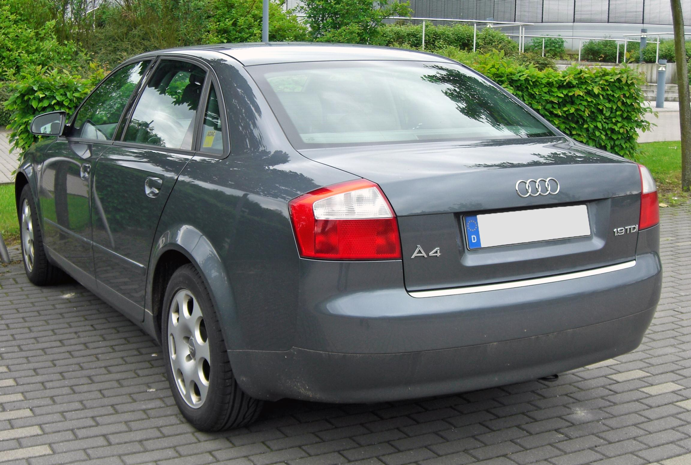 File Audi A4 B6 1 9 Tdi 20090516 Rear Jpg Wikimedia Commons