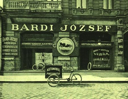 Bárdi József Automobil szaküzlete 1900-ban