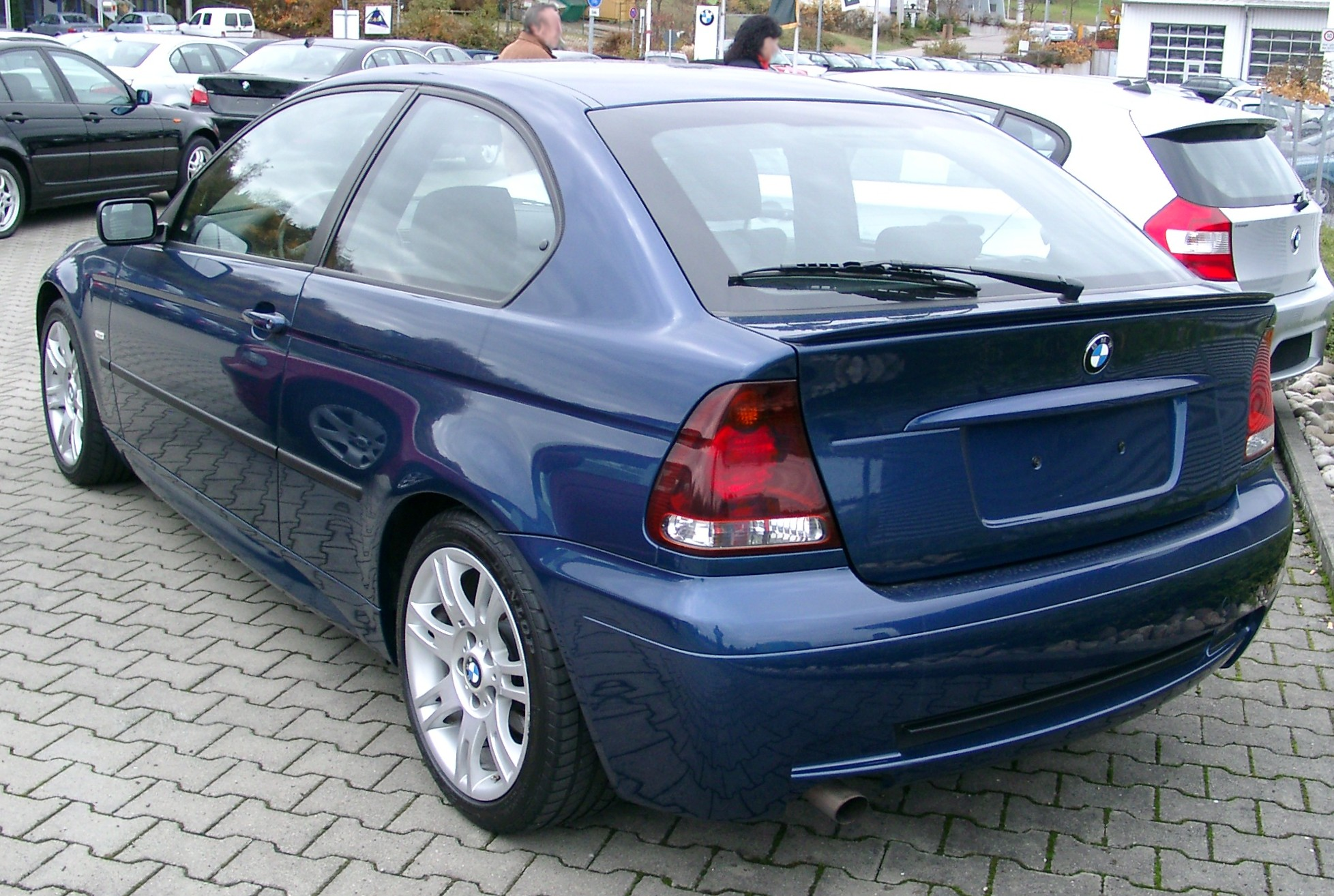 file bmw e46 compact rear1 wikimedia commons. Black Bedroom Furniture Sets. Home Design Ideas