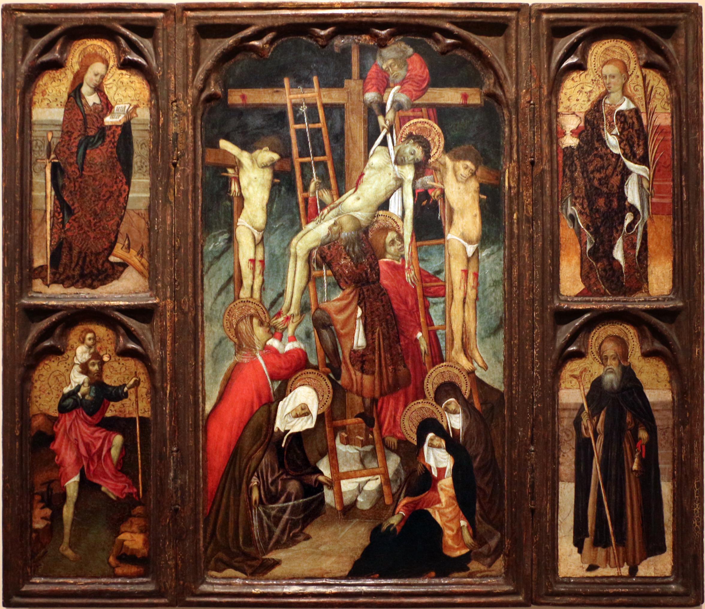 File:Bernardo martorell, trittico della discesa dalla croce, 1400-1445 ca,