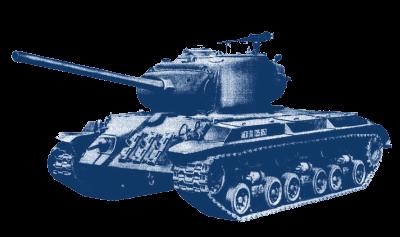 A generic U.S. World War II tank, a derivate o...