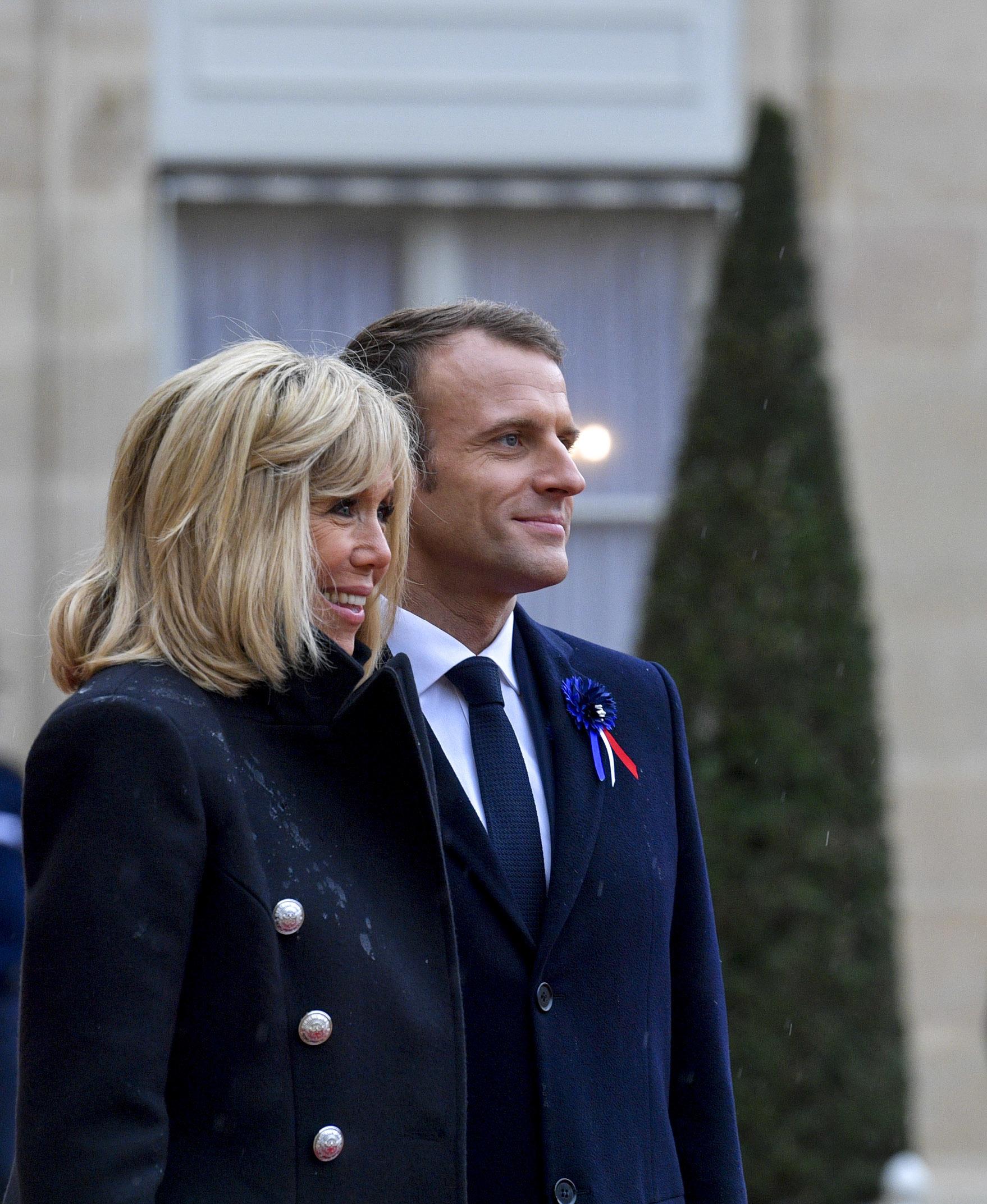 File:Brigitte Macron and Emmanuel Macron - November 2018