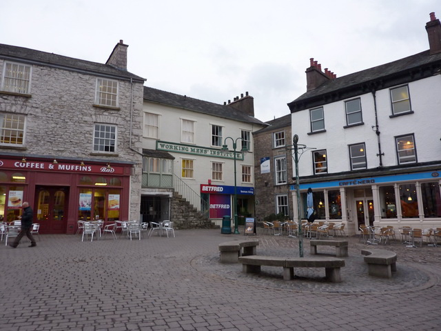 Cafe corner of Market Place, Kendal - geograph.org.uk - 1760160