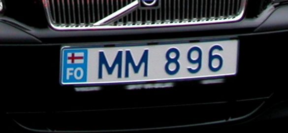 file car license plate of the faroe islands after wikimedia commons. Black Bedroom Furniture Sets. Home Design Ideas