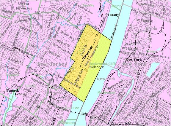 File census bureau map of englewood cliffs new for Bureau 13 wikipedia