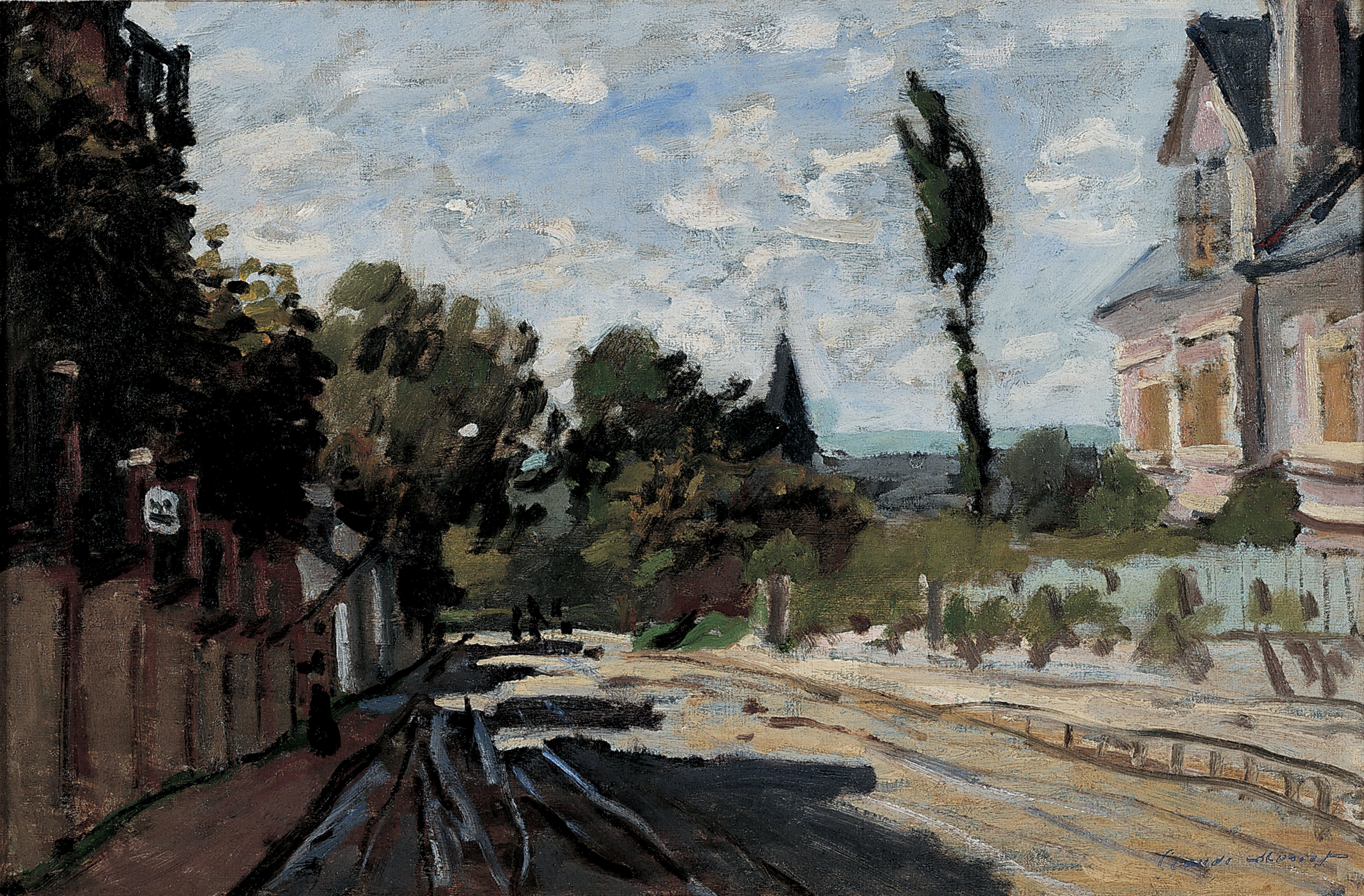 File:Claude Monet - Village Street, ca. 1869-71, Dixon Gallery.jpgdixon village