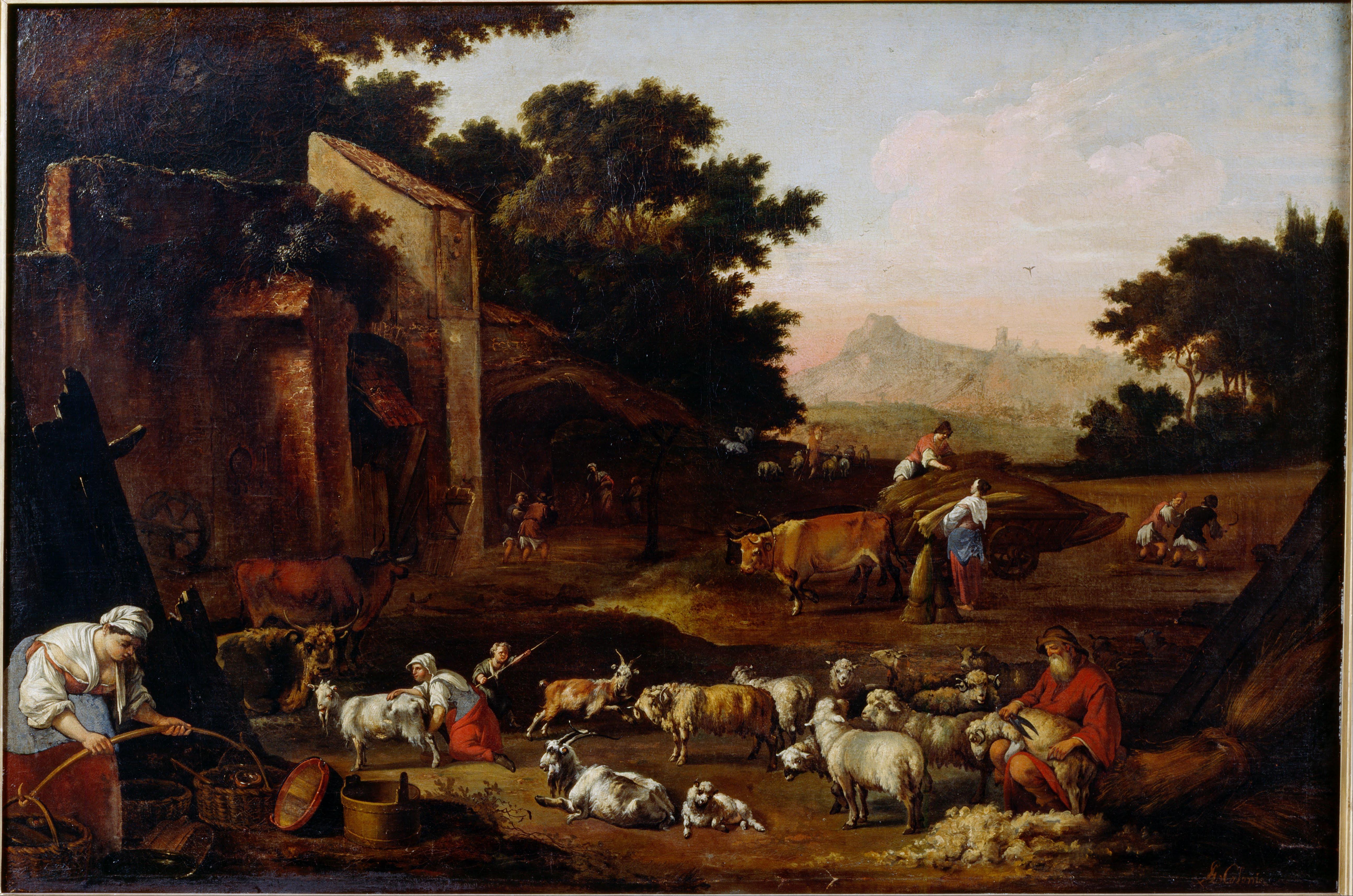 file colonia  adam - sheep shearing - google art project jpg