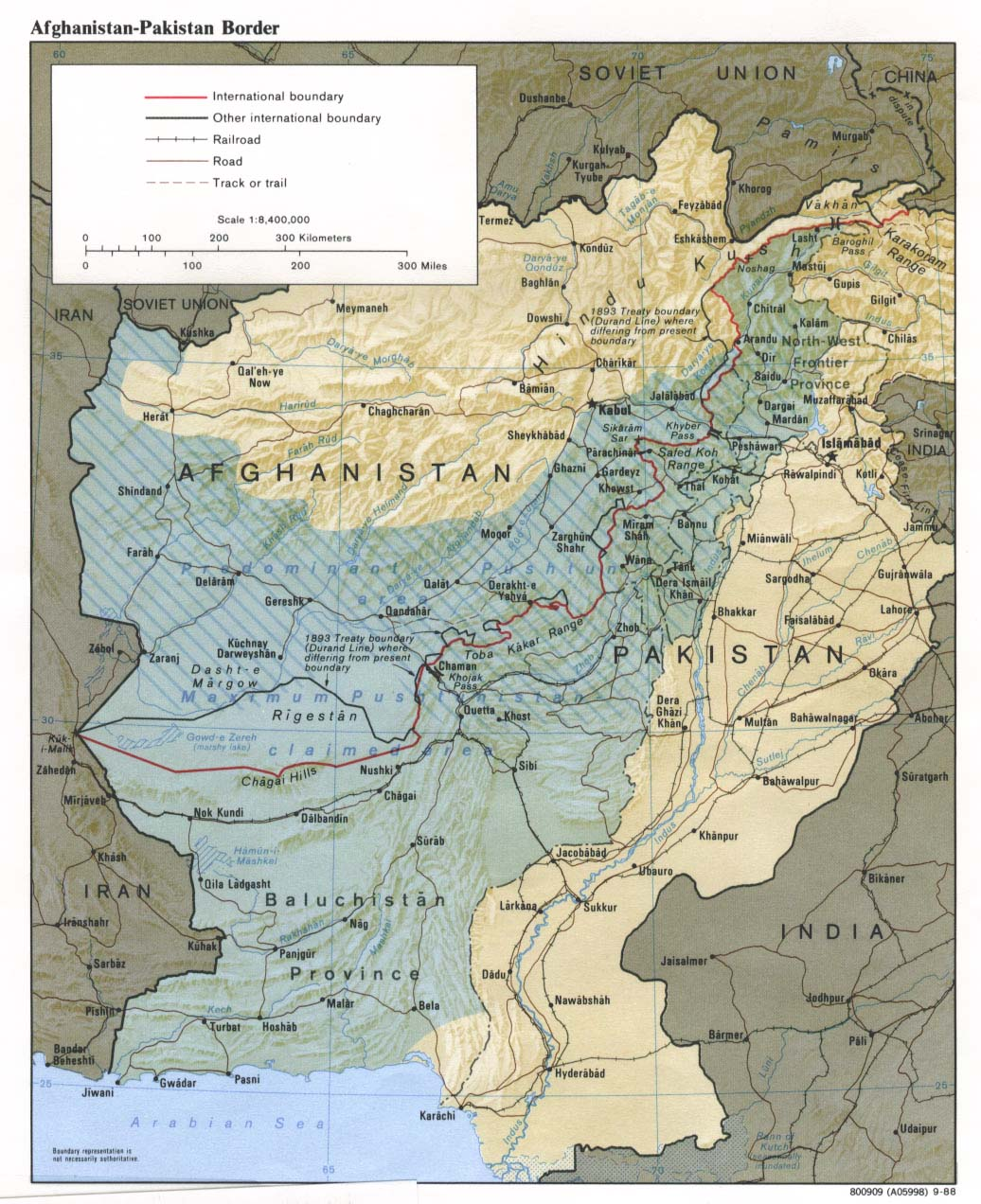 Baluch and Pashtun dispersion between Pakistan and Afghanistan