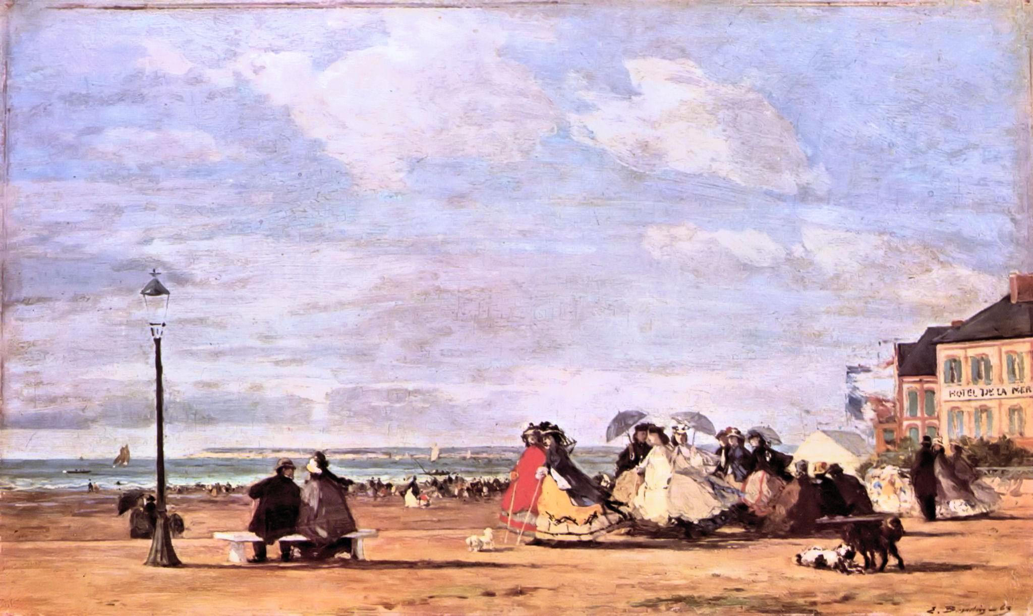 Eugène Boudin - Impératrice Eugénie sur la plage à Trouville