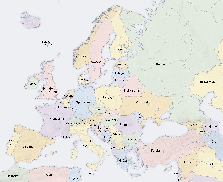 auto karta evrope sa glavnim gradovima Karta evrope sa drzavama i glavnim gradovima auto karta evrope sa glavnim gradovima