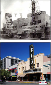 Fox Tucson Theatre, then and 2008