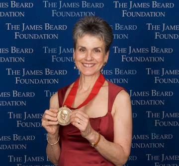 Lappe receiving the 2008 James Beard Foundation Humanitarian of the Year Award Frances Moore Lappe receiving Humanitarian Award, James Beard Foundation.jpg